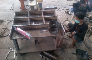Proses Pembuatan Box Jaw pada Stone Crusher