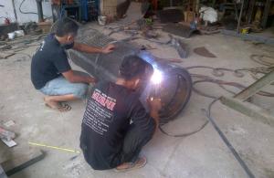 Pemasangan Screen atau Saringan Stone Crusher